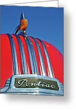 1951 Pontiac Chief Hood Ornament 2 Greeting Card by Jill Reger