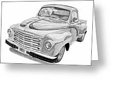 1951 Studebaker Pickup Truck Greeting Card by Daniel Storm