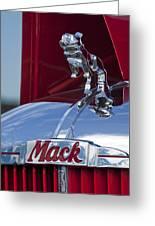 1952 L Model Mack Pumper Fire Truck Hood Ornament Greeting Card by Jill Reger