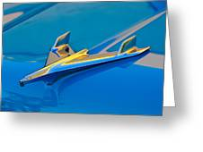 1956 Chevrolet Hood Ornament 2 Greeting Card by Jill Reger