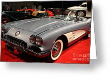 1956 Chevy Corvette Convertible . Front Angle Greeting Card by Wingsdomain Art and Photography