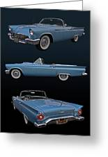 1957 Ford Thunderbird Greeting Card by Bill Dutting