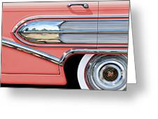 1958 Buick Side Chrome Bullet Greeting Card by David Kyte