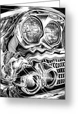 1958 Impala Beauty Within The Beast Greeting Card by Peter Piatt