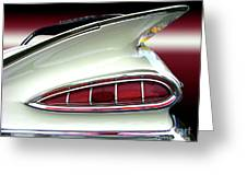 1959 Chevrolet Impala Tail Greeting Card by Peter Piatt