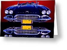 1961 Chevy Corvette Greeting Card by Jim Carrell