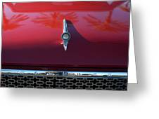 1961 Rambler Hood Ornament 2 Greeting Card by Jill Reger