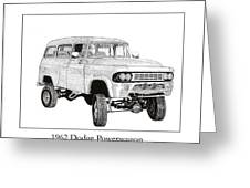 1962 Dodge Powerwagon Greeting Card by Jack Pumphrey