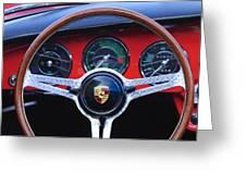 1964 Porsche C Steering Wheel Greeting Card by Jill Reger