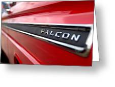 1965 Ford Falcon Name Plate Greeting Card by Brian Harig