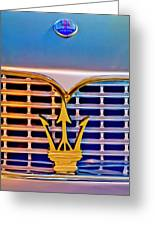 1967 Maserati Sebring Coupe Emblem Greeting Card by Jill Reger