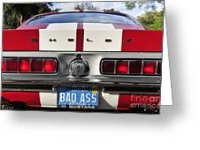 1968 Bad Ass Shelby Mustang Greeting Card by David Lee Thompson