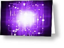 abstract circuit board lighting effect  Greeting Card by Setsiri Silapasuwanchai