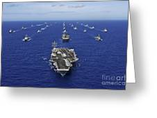 Aircraft Carrier Uss Ronald Reagan Greeting Card by Stocktrek Images