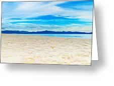 Beach Panorama Greeting Card by MotHaiBaPhoto Prints