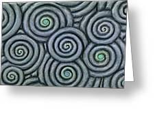 Bleus En Spirale Greeting Card by Jacques Vesery