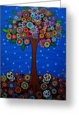 Day Of The Dead Greeting Card by Pristine Cartera Turkus