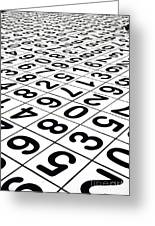 Endless Numbers Greeting Card by Amy Cicconi