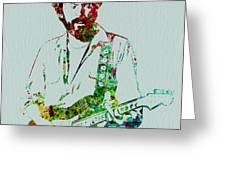 Eric Clapton Greeting Card by Naxart Studio