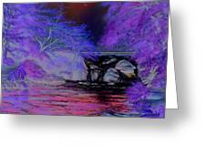 Flow Gently Greeting Card by Irish Art