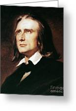 Franz Liszt (1811-1886) Greeting Card by Granger