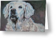 Golden Retriever Portrait Greeting Card by Lee Ann Shepard