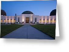 Griffith Observatory Greeting Card by Adam Romanowicz