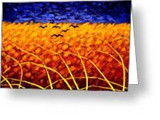 Homage To Van Gogh Greeting Card by John  Nolan