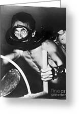 Jacques Cousteau (1910-1997) Greeting Card by Granger