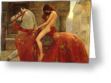 Lady Godiva Greeting Card by John Collier