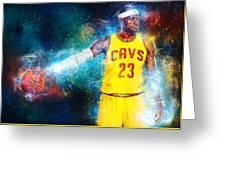 LeBron james Greeting Card by Taylan Soyturk