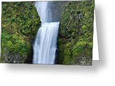 Multnomah Falls Waterfall Oregon Columbia River Gorge Greeting Card by Dustin K Ryan
