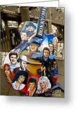 Nashville Honky Tonk Greeting Card by Barbara Teller