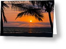 Nuevo Vallarta Sunset Greeting Card by About Light  Images