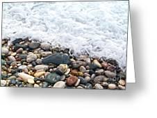 Ocean Stones Greeting Card by Stelios Kleanthous