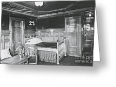 Parlour Suite Of Titanic Ship Greeting Card by Photo Researchers