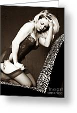 Retro Pinup Greeting Card by Clayton Bruster