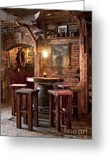 Rustic Restaurant Seating Greeting Card by Jaak Nilson