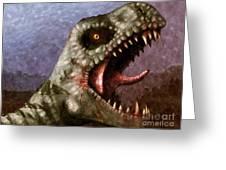T-rex  Greeting Card by Pixel  Chimp