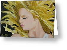 Taylor Swift Fearless Greeting Card by Hubert Ebel