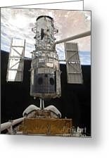 The Hubble Space Telescope Is Released Greeting Card by Stocktrek Images
