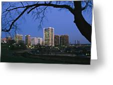 The Richmond, Virginia Skyline Greeting Card by Medford Taylor