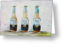 Three Amigos Greeting Card by Barbara Teller