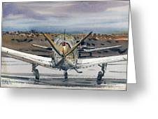 Two Planes Greeting Card by Donald Maier