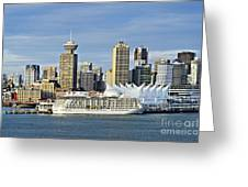 Vancouver Skyline Greeting Card by John Greim