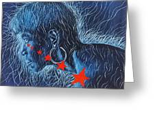 Wilma Greeting Card by Shahid Muqaddim