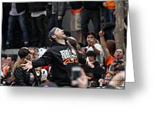 2012 San Francisco Giants World Series Champions Parade - Marco Scutaro - Dpp0008 Greeting Card by Wingsdomain Art and Photography