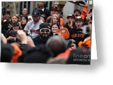 2012 San Francisco Giants World Series Champions Parade - Sergio Romo - Dpp0007 Greeting Card by Wingsdomain Art and Photography