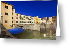 Ponte Vecchio Greeting Card by Andre Goncalves