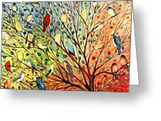 27 Birds Greeting Card by Jennifer Lommers